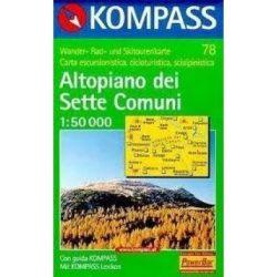 78. Altopiano dei Sette Comuni, D/I turista térkép Kompass