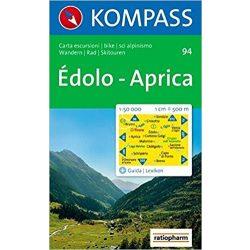 94. Édolo turista térkép Kompass Édolo, Aprica térkép D/I