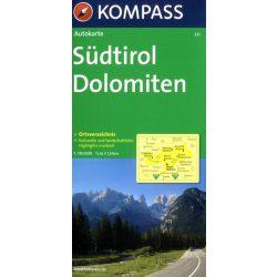 331. Südtirol, Dolomiten, Provinzkarte, 1:150 000 térkép autós