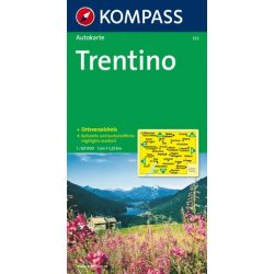 332. Trentino Provinzkarte, 1:125 000 térkép autós