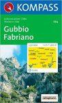 664. Gubbio Fabriano turista térkép Kompass 1:50 000