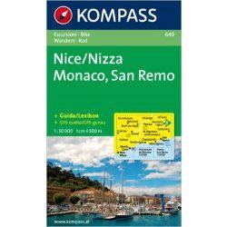 640. Nizza, Monaco, San Remo turista térkép Kompass 1:50 000