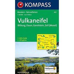 837. Vulkaneifel turista térkép Kompass 1:50 000
