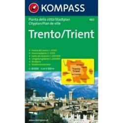 482. Trient/Trento, 1:10 000 várostérkép