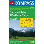 2131. Westliche Tatra/Západné Tatry, 1:25 000, D/SK turista térkép Kompass