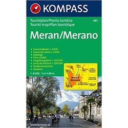 481. Meran/Merano, 1:8 000 várostérkép