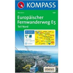120. Europäischer Fernwanderweg észak turista térkép Kompass 1:50 000