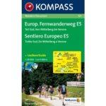 121. Europäischer Fernwanderwegdél turista térkép Kompass 1:50 000