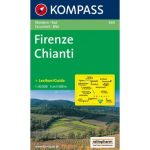 660. Firenze turista térkép Kompass  Firenze, Chianti