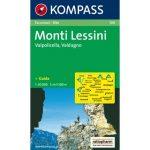 100. Monti Lessini turista térkép Kompass 1:50 000