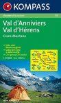 115. Val d Anniviers turista térkép Kompass 1:50 000