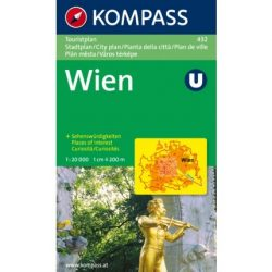 432. Wien Touristplan, 1:20 000, 30er Box várostérkép