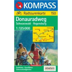 150. Donauradweg kerékpáros térkép Kompass 1:125 000