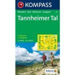 04. Tannheimer Tal turista térkép Kompass 1:35 000
