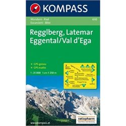 630. Regglberg, Latemar, Eggental, 1:25 000 turista térkép Kompass