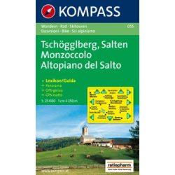 055. Tschögglberg turista térkép Kompass 1:25 000