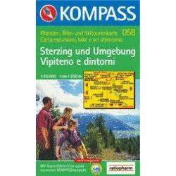 058. Sterzing és környéke turista térkép Kompass 1:25 000