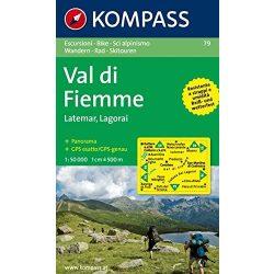 79. Val di Fiemme turista térkép Kompass 1:50 000