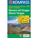 632. Bassano del Grappa, Monte Grappa, 1:25 000 turista térkép Kompass
