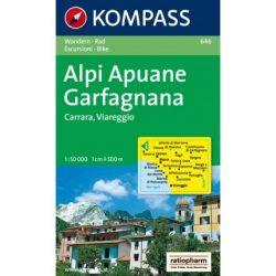 646. Alpi Apuane Carfagnana turista térkép Kompass 1:50 000