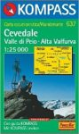 637. Cevedale-Valle di Pejo-Alta Valfurva turista térkép Kompass 1:25 000