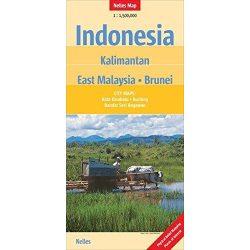 Indonézia, Kalimantan térkép Nelles 1:1 500 000