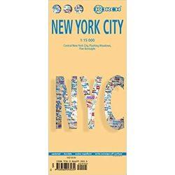 New York térkép, 1:15 000 New York City térkép vízhatlan Borch Map