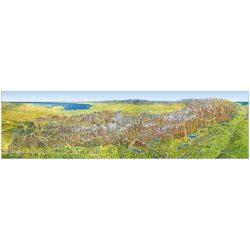 Alpok panoráma falitérkép Mairdumont 214,5x60,6 cm
