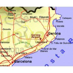Costa Brava térkép B & B 1:200 000