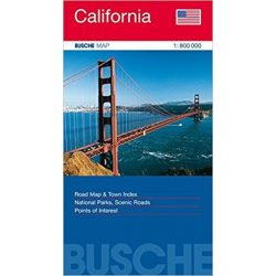 Kalifornia térkép, California térkép Busche map  1:800 000