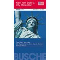 New York térkép Busche map New York állam 1:25 000, 1:800 000