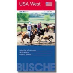 USA West térkép Busche map 1:2 200 000  Nyugat USA térkép
