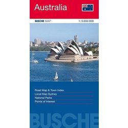 Ausztrália térkép Busche Map  1 : 5 000 000
