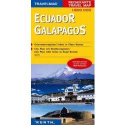 Ecuador és Galápagos térkép Kunth 2013 1:800 000