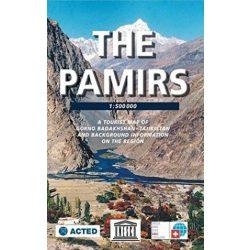 Tajikistan térkép, Pamír hegység turista térkép, The Pamirs térkép 1:500 000