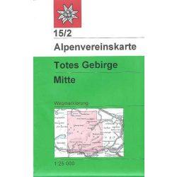 Totes Gebirge turista térkép Mitte 15/2. Alpenvereinskarte 1:25 000