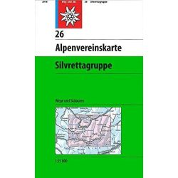Silvrettagruppe turista térkép 26. Alpenvereinskarte 1:25 000