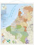 Benelux államok falitérkép 1:420 000
