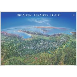 Alpok falitérkép panoráma 140 x 100 cm
