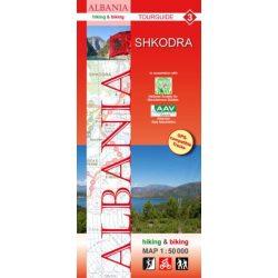 Albánia térkép 3. rész, Albánia kerékpáros térkép   Huber 1:50 000