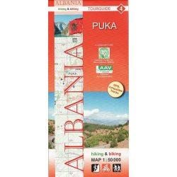 Albánia térkép 4. rész, Albánia kerékpáros térkép   Huber 1:50 000