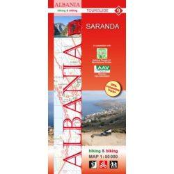 Albánia térkép 9. rész, Albánia kerékpáros térkép   Huber 1:50 000