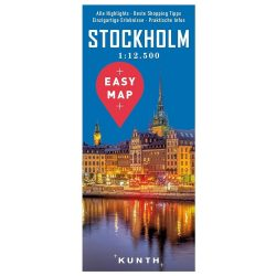 Stockholm térkép Kunth 1:15 000  2017