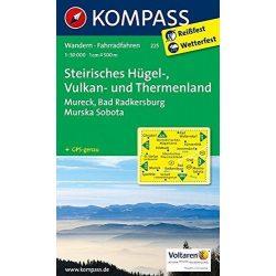 225. Steirisches Hügel- und Vulkanland turista térkép Kompass 1:50 000