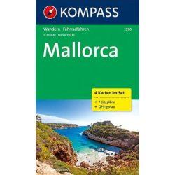 2230. Mallorca térkép  1:35 000 Mallorca turista térkép Kompass