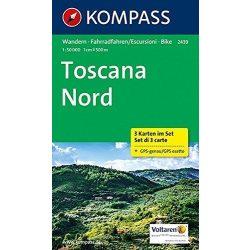 2439. Észak Toscana térkép Kompass 1:50 000   2016