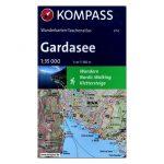 2752. Gardasee, Garda-tó térkép, túrakalauz, zsebatlasz 1:35 000 Kompass 2016