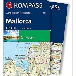 2753. Mallorca térkép  1:35 000 Mallorca turista térkép, túrakalauz, zsebatlasz 1:35 000 Kompass 2016