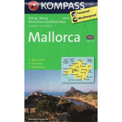 230GB. Mallorca, 1:75 000, E turista térkép Kompass