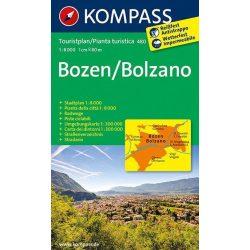 480. Bozen/Bolzano turistatérkép és Bozen várostérkép 1:8 000